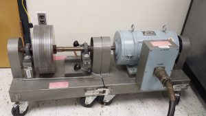 DC machine based flywheel