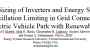 Optimal Sizing of Inverters and Energy Storage for Power Oscillation Limiting in Grid Connected Large Scale Electric Vehicle Park with Renewable Energy