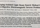 A Kriging-Assisted Light Beam Search Method for Multi-Objective Electromagnetic Inverse Problems