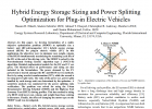 Hybrid Energy Storage Sizing and Power Splitting Optimization for Plug-in Electric Vehicles