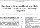 Data-Centric Hierarchical Distributed Model Predictive Control for Smart Grid Energy Management