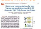 Design and Implementation of a New Transformerless Bidirectional DC–DC Converter With Wide Conversion Ratios